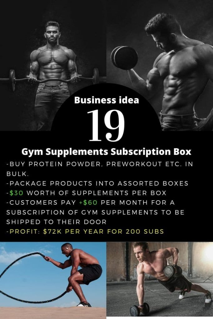 Gym Supplements Subscription Box