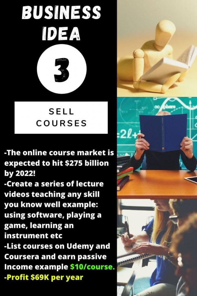 Business idea N°3: Sell Courses